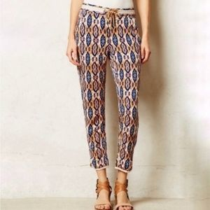 Anthropologie | Pilcro Letterpress Ikat Crop Capri